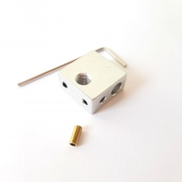 Нагревательный блок MK8 20х20х9,5 мм с гильзой
