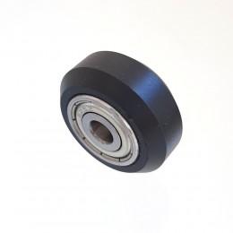 Ролик 24 мм плоский черный